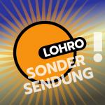 LOHRO Logo mit illustiertem Stern herum und Ausrufezeichen