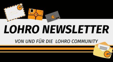 Der LOHRO Newsletter mit kleinen Briefen mit LOHRO-Briefmarke