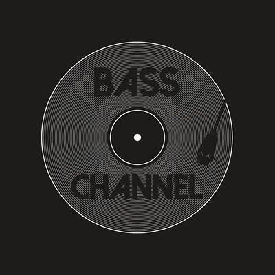 Logo Bass Channel Schallplattenspieler schwarz