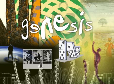 Collage aus Genesis-Album-Covern